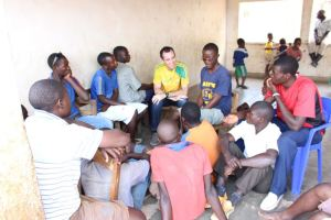Dan sharing with some of the Secondary school students.